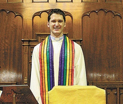 A new look in church vestments.