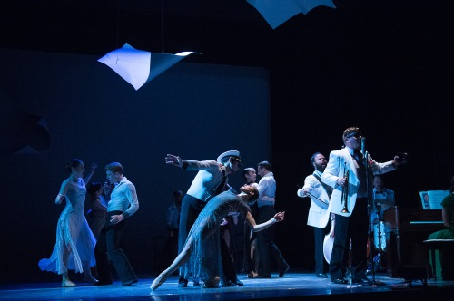 "Members of BalletX in ""Sunset, o639 Hours""; photo Christopher Duggan."