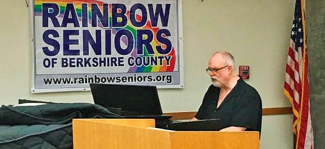 Bill Finn at the piano. Photo by Alex Reczkowski.