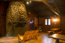 Interior of the ski lodge.